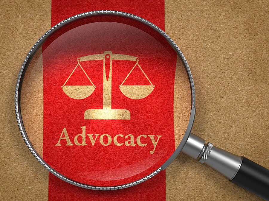 adWhite marketing Web Accessibility Lawsuits on the Rise Magnifying Glass Highlighting Scale Icon Advocacy