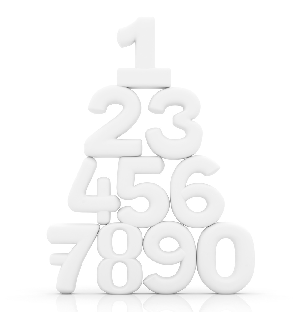 Numbers in pyramid
