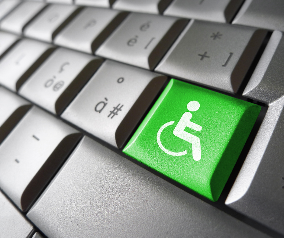 keyboard with wheelchair button