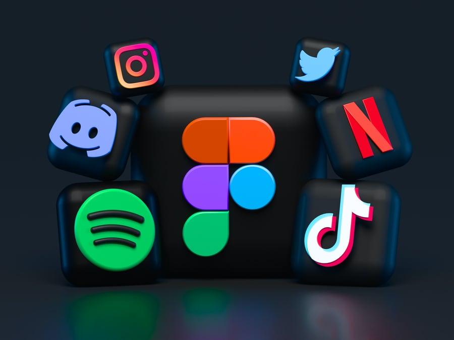 adWhite Five Essential Social Media Marketing Tips Icons for Social Media Platforms