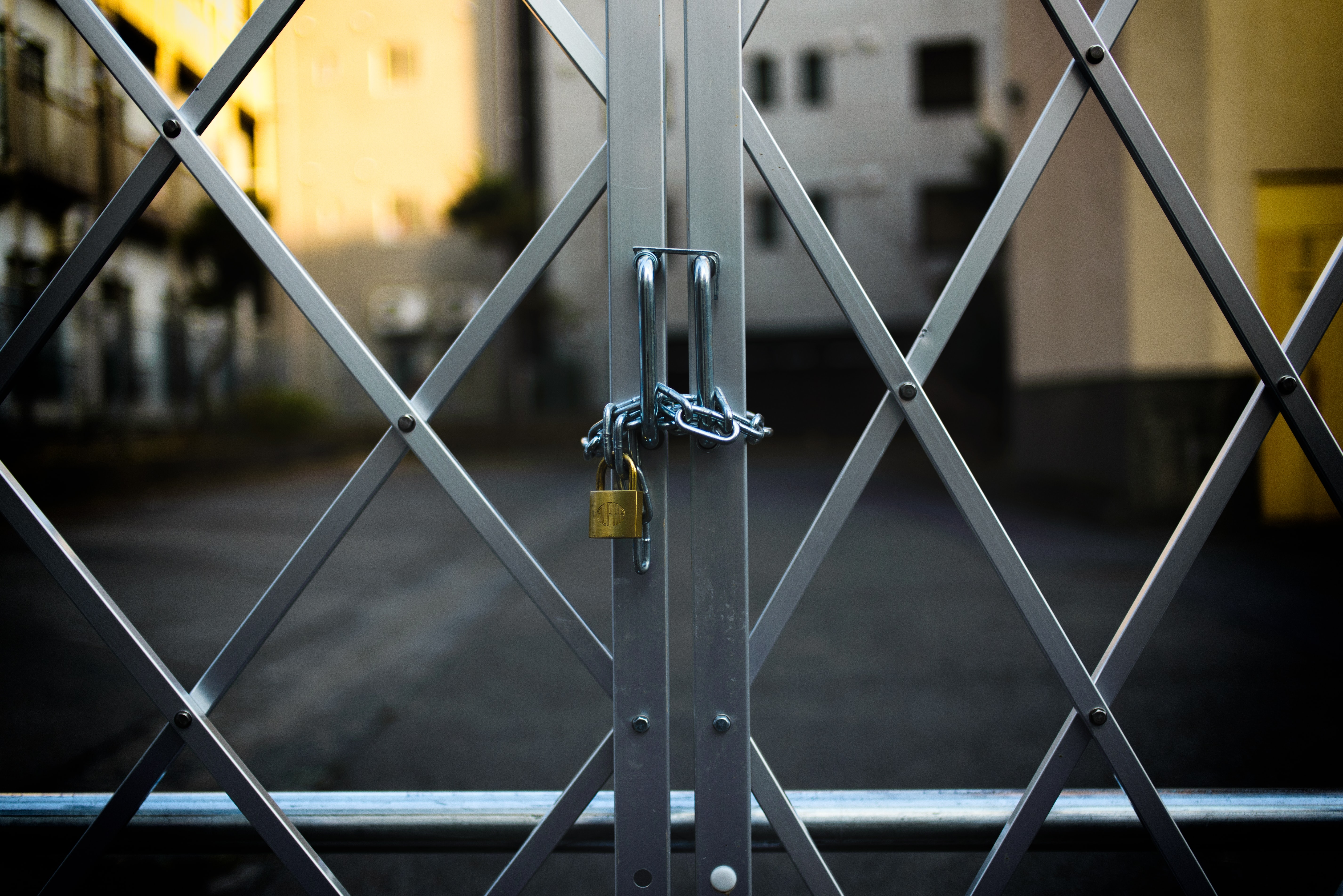 adWhite marketing gated or ungated content decision photo of locked gate