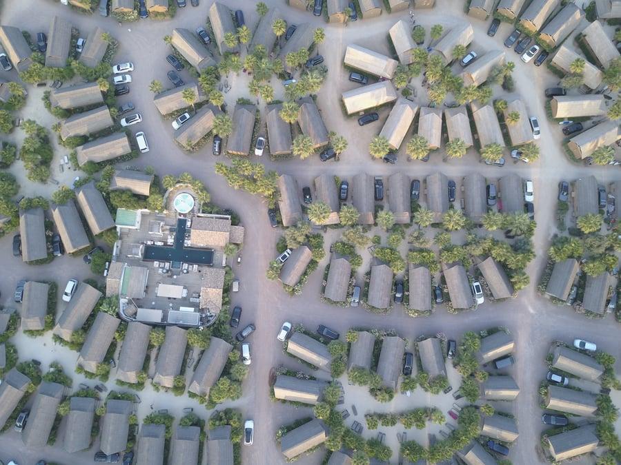 image of a birds eye view of a neighborhood