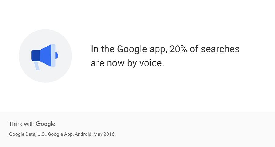 Google app voice search data