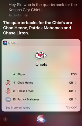 Siri Results