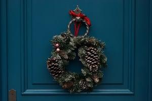 wreath-door